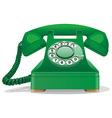Green retro telephone vector
