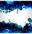 Blue ink blots background vector