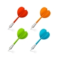 Four darts isolated on white vector