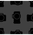 Photo camera web icon flat design seamless gray vector