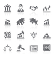 Business and finance stock exchange icons vector