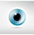 Abstract blue eye vector