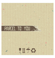 Parcel to you - abstract background vector