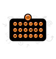 Set of info buttons vector
