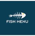 Fish menu design template vector