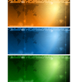 Colourful tech banners vector