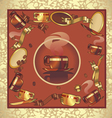 Background coffee red vector