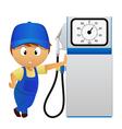 Man fuel pump vector
