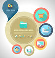 Circle template with flat icons vector