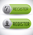 Register button design vector