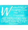 Modern alphabet blue background vector