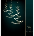 Funny sparkler trees cyan background vector