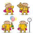 Cartoon valentines day icon vector