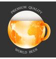 Conceptual beer label vector