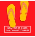 New pair of shoes can change your life vector