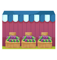Fruit stands with grapes vector