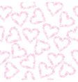 Background with hearts made of flowers vector