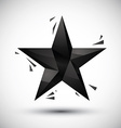 Black star geometric icon made in 3d modern style vector