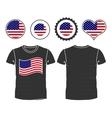 T-shirt with usa flag vector