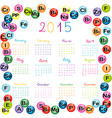 2015 calendar with vitamins and minerals for vector