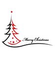 Beauty christmas tree background vector