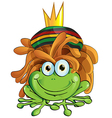 Rasta frog cartoon isolate on white vector