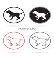Dog hunting vector