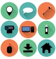 Set of round colored icons vector