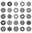 Set of abstract round design elements vector