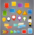 Different content banners templates vector