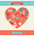 Valentines and wedding background vector