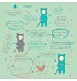 Comics about love and forgiveness vector