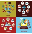 Aviation airport and travel concept flat designs vector
