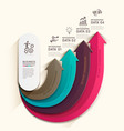 Arrow business infographics template vector