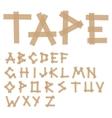 Adhesive tape alphabet vector
