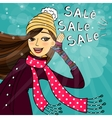 Winter shopping sale vector