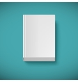 Blank book drawn in perspective vector