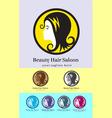 Hair saloon logo vector