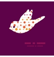Abstract colorful stripes and shapes bird vector