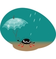 Spider with umbrella vector
