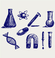 Biology chemistry and physics vector