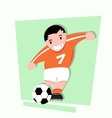 Funny little kids play soccer vector