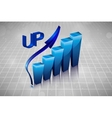 3d business graph in the drawings vector