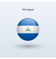 Nicaragua round flag vector