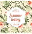 Tropical holiday card vector