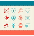 Set of valentines and wedding icons design vector