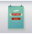 Poster hanging with birthday greetings vector
