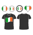T-shirt with the flag of ireland vector