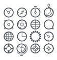 Different web icons set isolated on white vector
