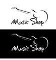 Set of music shop emblems vector